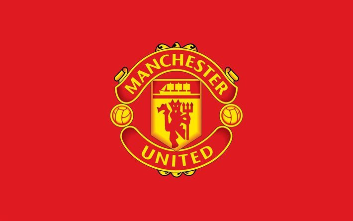 Download wallpapers Manchester United, 4k, logo, red ...