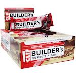 Clif Bar Builder's Protein Bars Box Chocolate 12 Bars