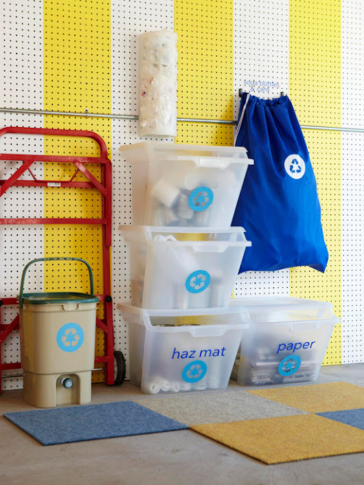 16 Ways to Organize Your Recycling