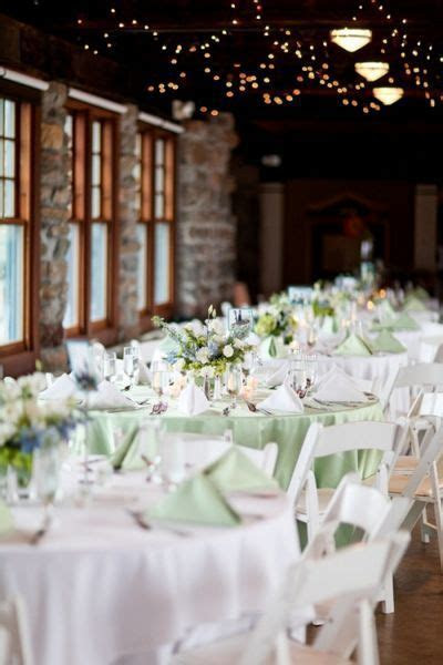 Our reception will look similar to this. White tablecloths