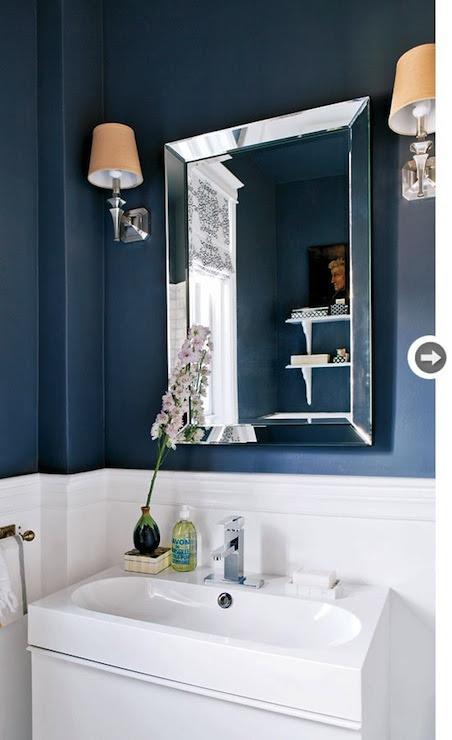 Navy Blue Bathroom - Contemporary - bathroom - Style at Home