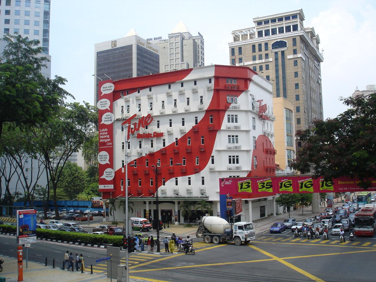 Tune Hotels Downtown KL in Kuala Lumpur, Malaysia.