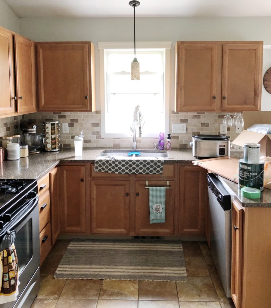 Painting Your Builder Grade Kitchen Cabinets Renovating Mapleson Manor