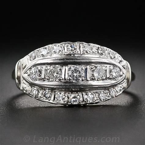 Mid Century Vintage 'Cigar Band' Diamond Ring