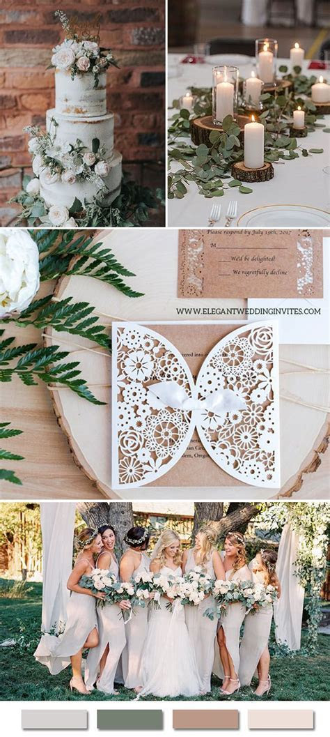 7 Inspirational Elegant Wedding Colors with Matching