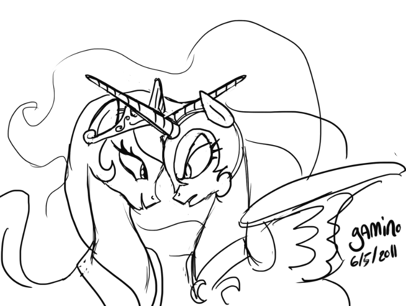 Mlp Coloring Pages Luna At Getdrawingscom Free For Personal Use