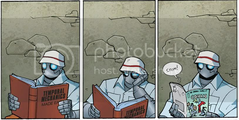 from Atomic Robo: Shadow from Beyond Time, by Brian Clevinger and Scott Wegener
