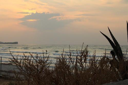 Surfista al tramonto