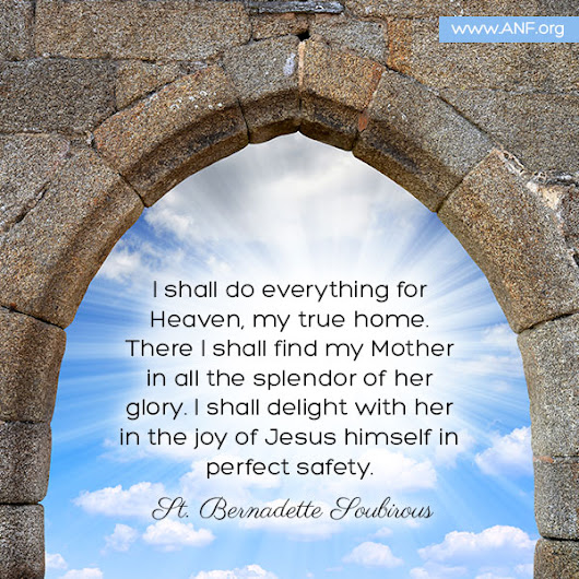 Daily Quote - I shall do everything for Heaven...