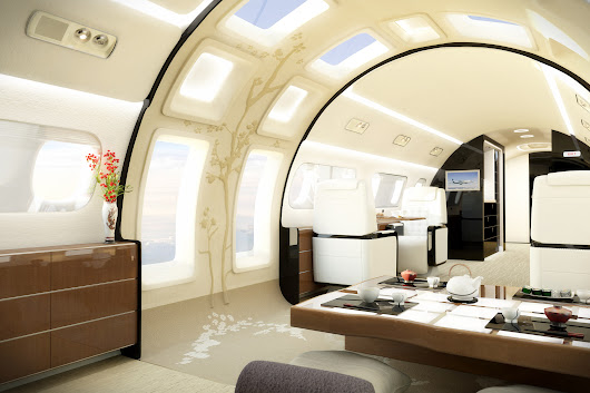 Ever Wonder What Goes Inside a $53 Million Private Jet? Photos | Architectural Digest