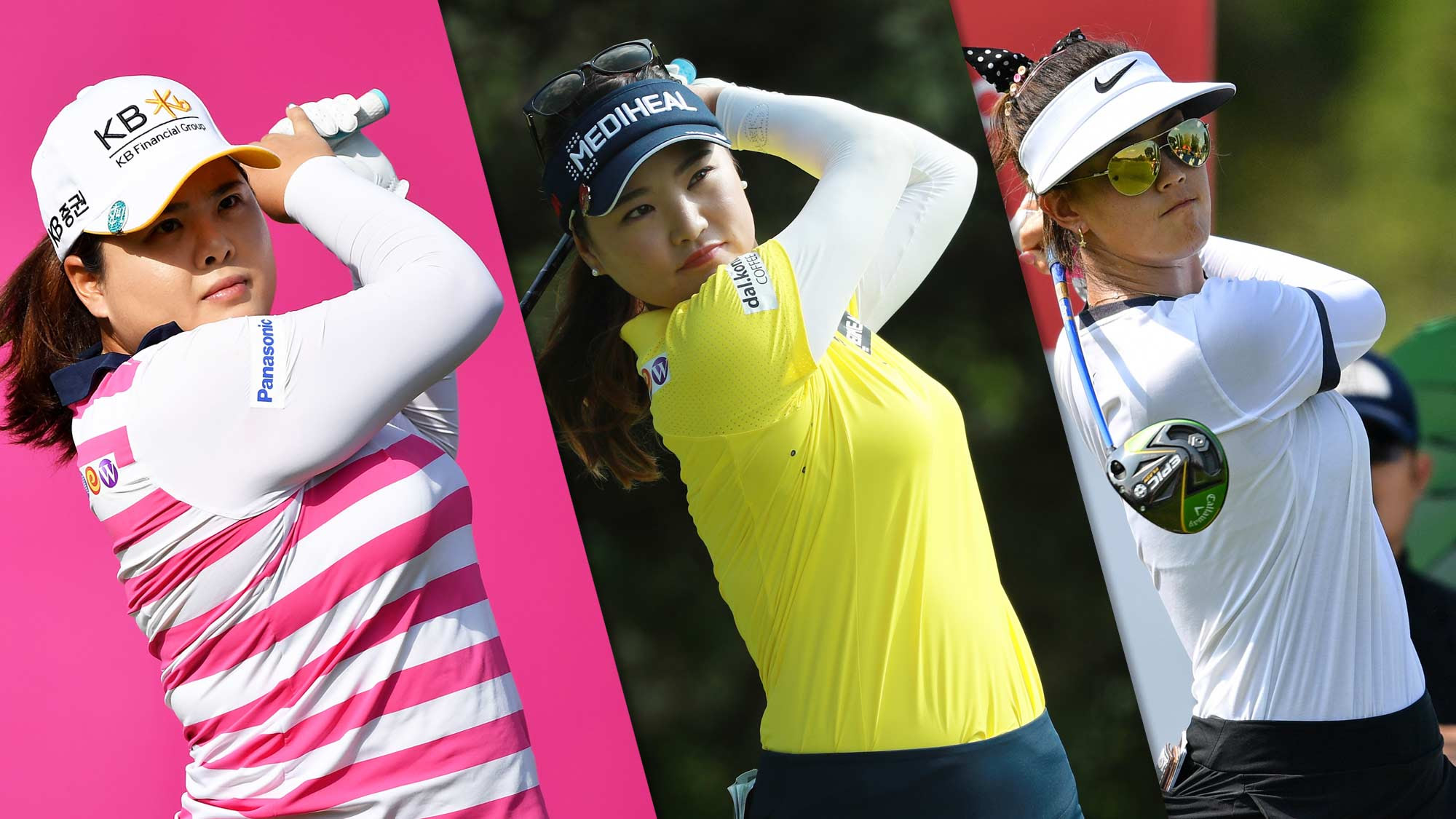 Inbee Park, So Yeon Ryu and Michelle Wie