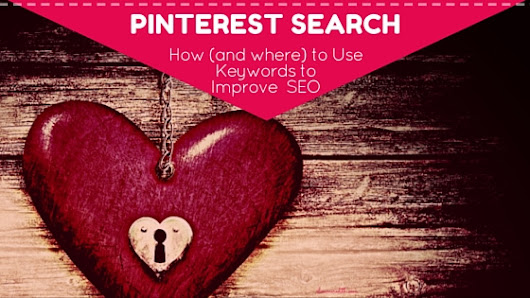 Pinterest Search - 11 Smart Places to Use Keywords for Better SEO
