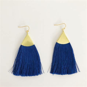 Blue Long Tassel Earrings   VeryAllegra