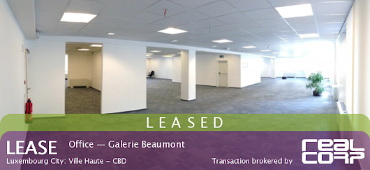 LEASED: Galerie Beaumont Office Space - RealCorp Luxembourg