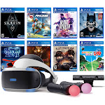 PlayStation VR 11-In-1 Deluxe 8 Games Bundle: VR Headset, Camera, Move Motion Controllers, Skyrim, Batman, Bravo Team, Battlezone, RIGS, Until Dawn,