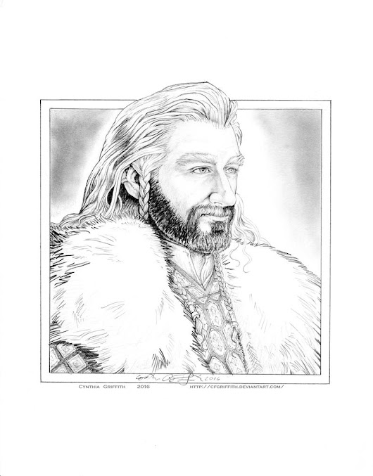Quick Thorin Pencil Drawing