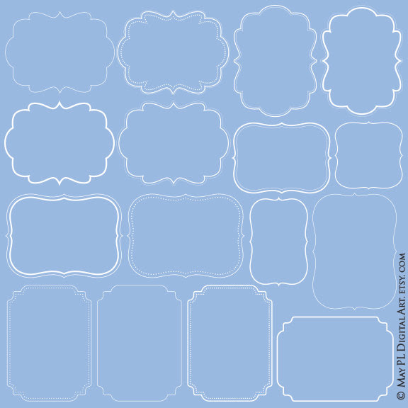 Vector White Frames Simple Digital Shapes Vertical Horizontal Diy