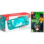 Nintendo Switch Lite 32GB Turquoise and Luigi's Mansion 3 Bundle