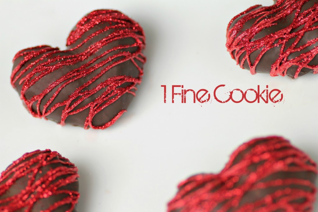 Chocolate Covered Strawberry Hearts by One Fine Cookie