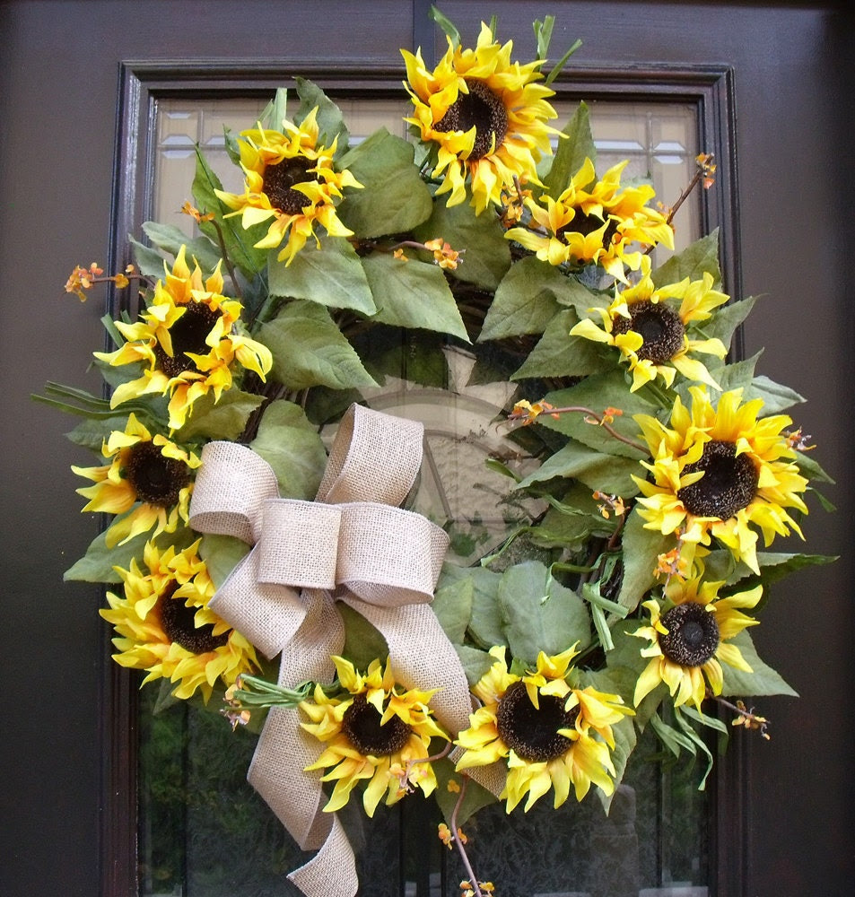 Popular items for sunflower home decor on Etsy