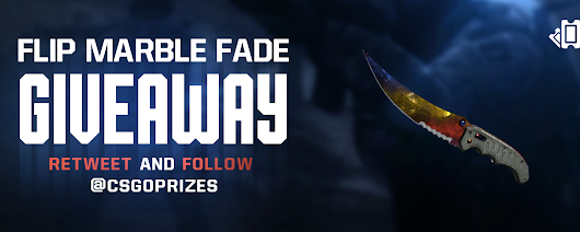 Flip Knife | Marble Fade Giveaway  by CSGOPRIZES.COM