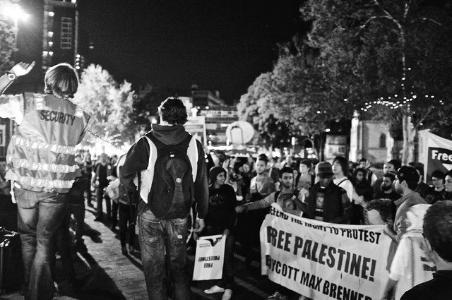 Anti-Israel Rally at Max Brenner 53