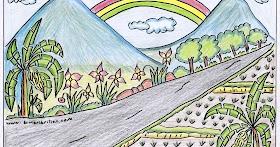 Gambar Pemandangan Gunung Dan Jalan