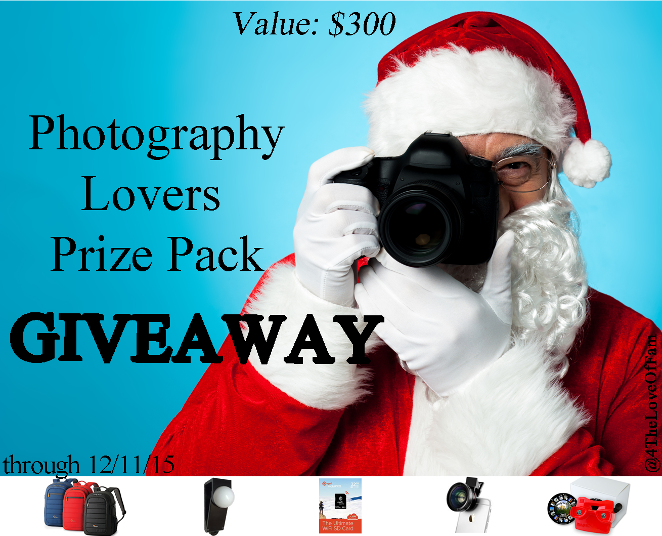 WIN A Photography Lovers' Prize Pack valued at over $300!!! Top Gifts for Photography Lovers Under $100 - A Photographer Holiday Gift Guide