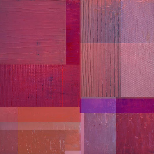 Purple With Vertical Stripes by Michelle Calkins