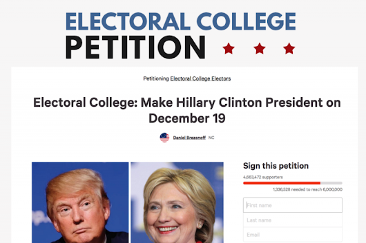 Click here to support Electoral College Petition by Daniel Brezenoff
