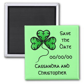 Goth shamrock St. Patrick's day save the date