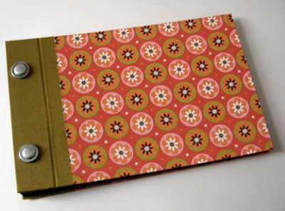 handmade photo album with flower-pattern cover