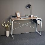 Siaonvr Desktop Computer Desk Laptop Study Table Office Desk With Cloth Bag Storage