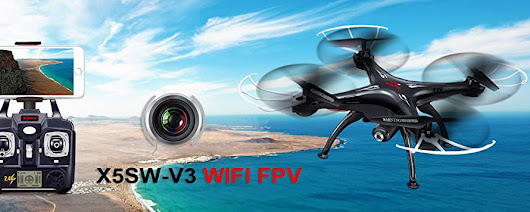 Amazon.com: Cheerwing Syma X5SW-V3 FPV 2.4Ghz 4CH 6-Axis Gyro RC Headless Quadcopter Drone UFO with HD Wifi Camera (Black): Electronics