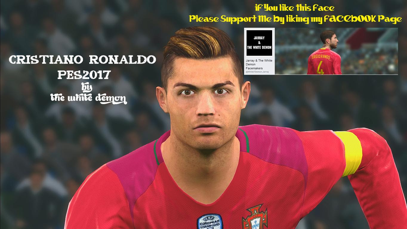 Cristiano Ronaldo PES 2017 Face By The White Demon!