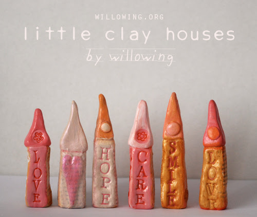 little clay houses