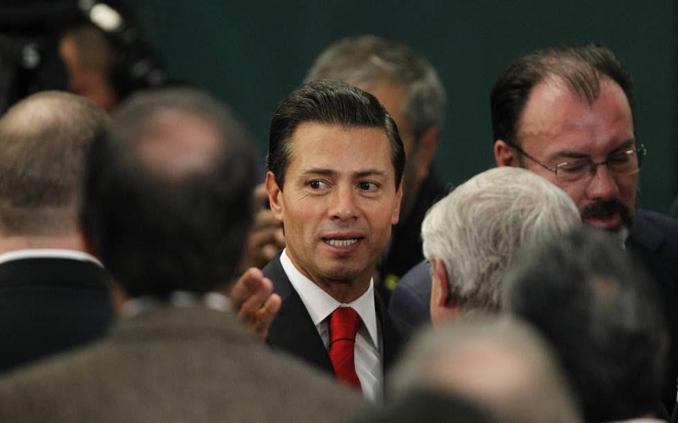 Peña Nieto, este lunes en Los Pinos.