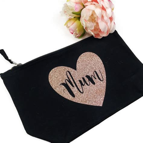 Mum Rose Gold Glitter Makeup Bag   Love Unique Personal