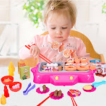2-In-1 Children's Rotating Hot Pot BBQ Toy Set (Pretend To Play With Food Toys)