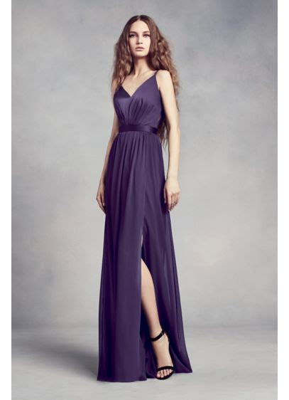 Charmeuse and Chiffon Bridesmaid Dress   David's Bridal