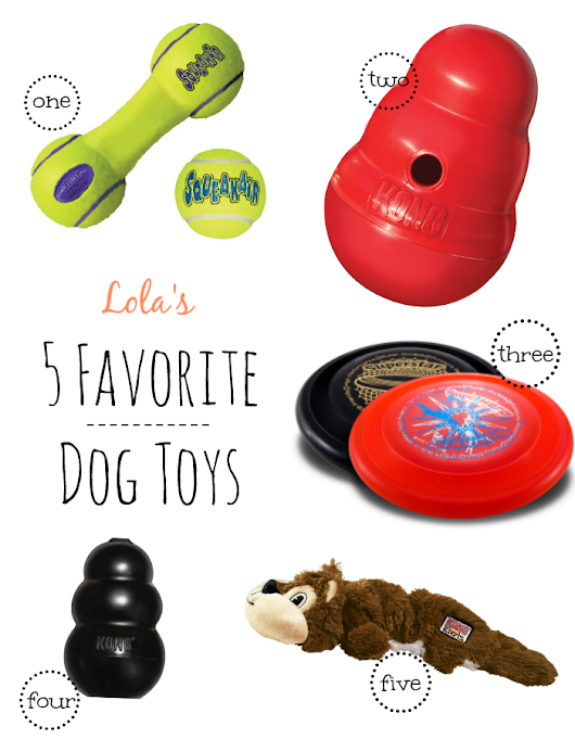 Lola's Top 5 Dog Toys (+ Giveaway!)