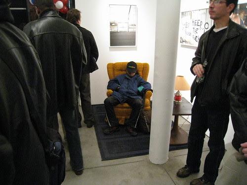 Zoe Strauss' Siverstein show 2008 - sleeping guy