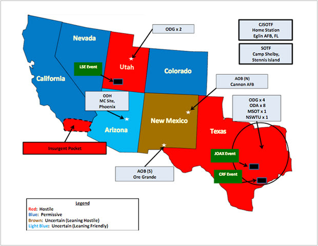 Take note of the seven states connected to the announcement of the Jade Helm drill.