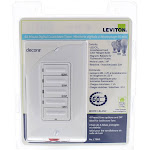 Leviton White Decora Switch 20A Preset Countdown Timer OFF-10-15-30-60 Min LTB60-W
