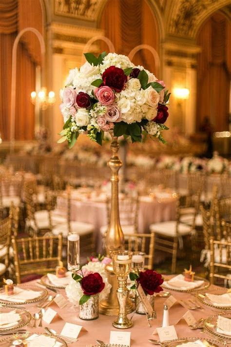 25  best ideas about Gold wedding centerpieces on