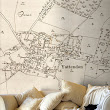 Vintage Victorian map wallpaper shows your location in detail