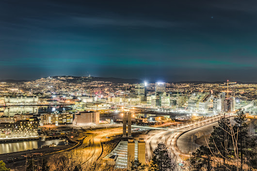 Northern Lights over Oslo, Norway 15th March - 2016