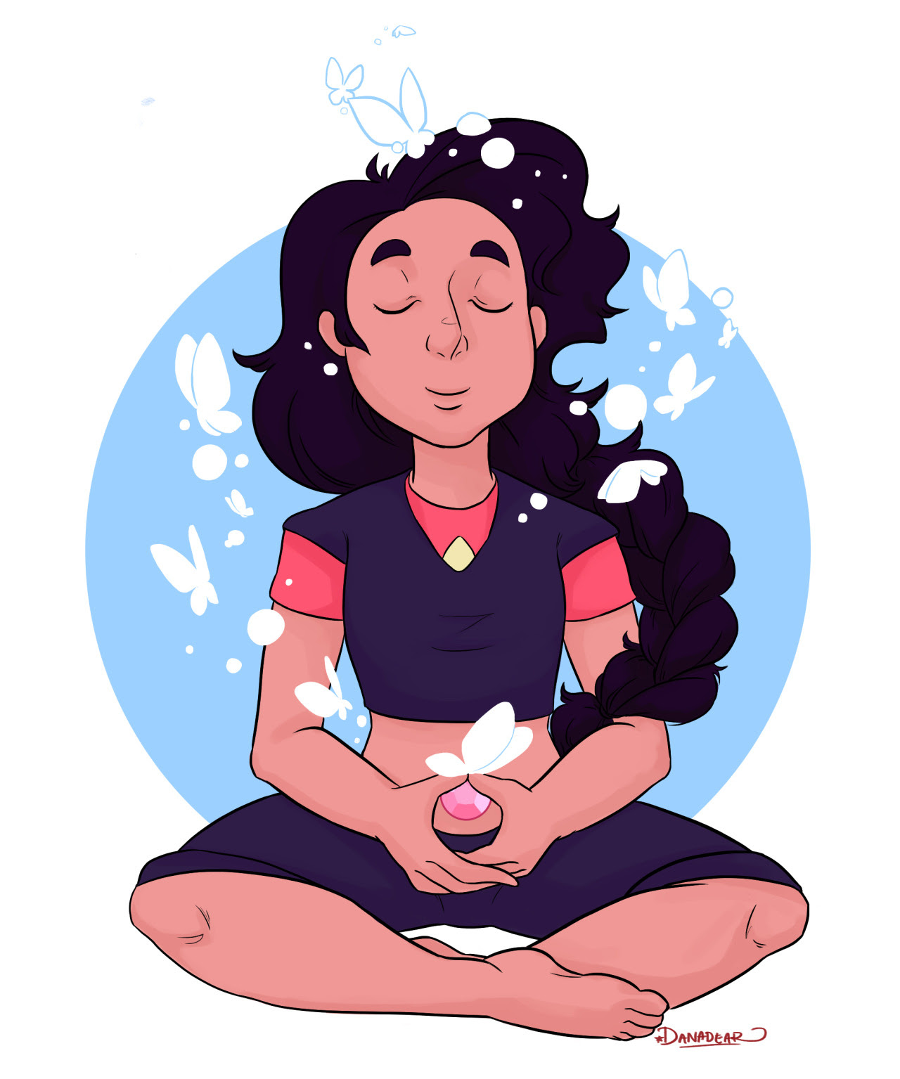 Just a thought ~ Another commission for Kreedence - she's so lovely and I'm so happy I got to draw Stevonnie for her☆