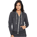 Alternative Super Distressed Adrian Hoodie Women's Sweatshirt Eco Black