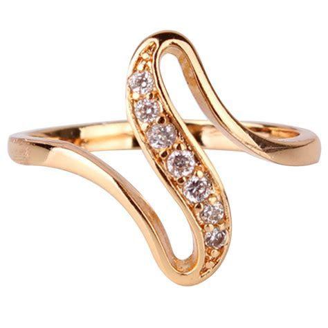 2016 Cheap Women Finger Rings 18K Gold Plated Engagement